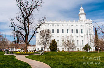St. George Temple - Utah Poster by Gary Whitton