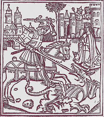 St. George - Woodcut Poster