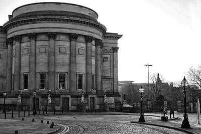 St Georges Hall In Liverpool Black And White Poster by Georgia Fowler