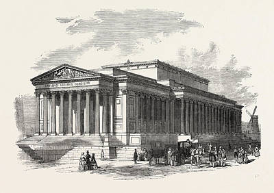 St. Georges Hall, Liverpool, Principal Front Poster by English School