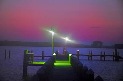 St. Georges Island Dock - Just Before Sunrise Poster