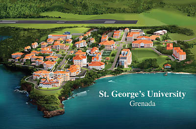 St. George's University Poster by Rhett and Sherry  Erb