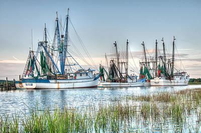 St. Helena Island Shrimp Boats Poster