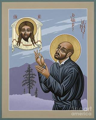 Poster featuring the painting St. Ignatius Amidst Alaska 141 by William Hart McNichols