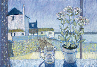 St. Ives Windowsill Mixed Media Poster