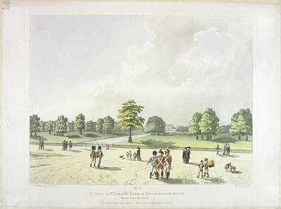 St James's Park In The Eighteenth Century Poster by British Library