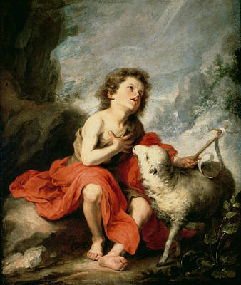 St. John The Baptist As A Child, C.1665 Oil On Canvas Poster by Bartolome Esteban Murillo