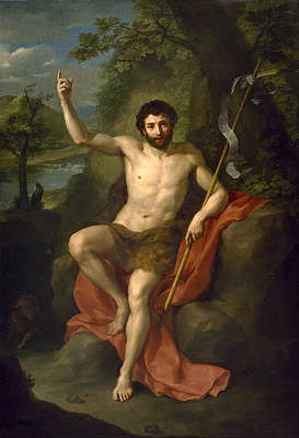 St John The Baptist Preaching In The Wilderness Poster
