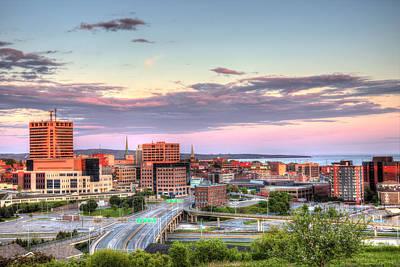 St. John's New Brunswick Sunset Skyline Poster by Shawn Everhart
