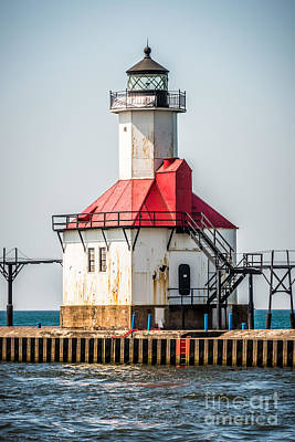 St. Joseph Michigan Lighthouse Picture  Poster by Paul Velgos