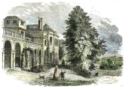 St Leonards On The Hill Near Windsor Uk 1852 Poster by English School