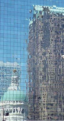 St. Louis Bldg Reflections Poster by Cindy Croal