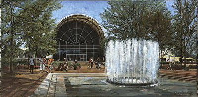 St. Louis Botanical Garden Fountain Poster