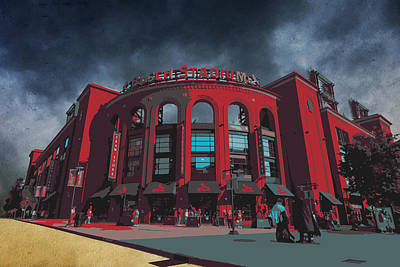 St. Louis Busch Stadium Cardinals 9162 Art Poster by David Haskett