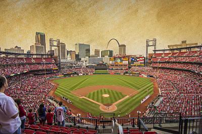 St. Louis Cardinals Busch Stadium Texture 9252 Poster