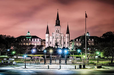 St. Louis Cathedral In The Morning Poster