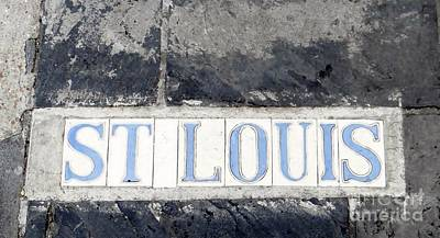 St. Louis French Quarter Tile Street Marker  Poster