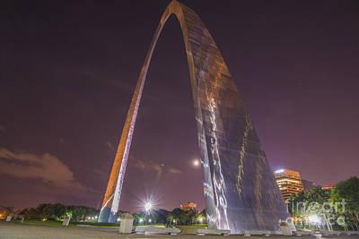 St. Louis Missouri Gateway Arch Night 9422 Poster