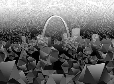 St Louis Skyline Geometric Poster