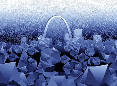 St Louis Skyline Geometric2 Poster