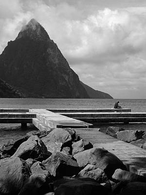 St Lucia Petite Piton 5 Poster by Jeff Brunton