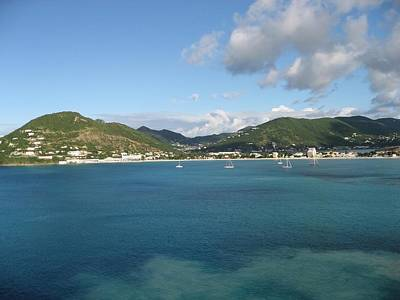 St Maarten At A Distance Poster by Jean Marie Maggi