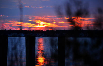 Poster featuring the photograph St. Marten River Sunset by Bill Swartwout