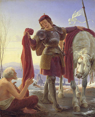 St. Martin And The Beggar, 1836 Oil On Canvas Poster by Alfred Rethel
