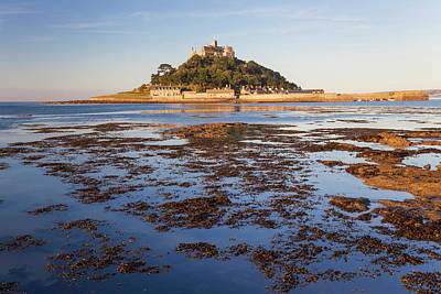 St Michael's Mount At Dawn, Marazion Poster by Peter Adams