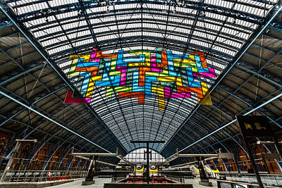 St Pancras Eurostar Terminal Poster by Izzy Standbridge