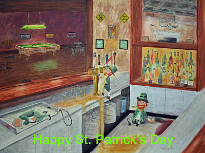 St Patricks Day Card Poster