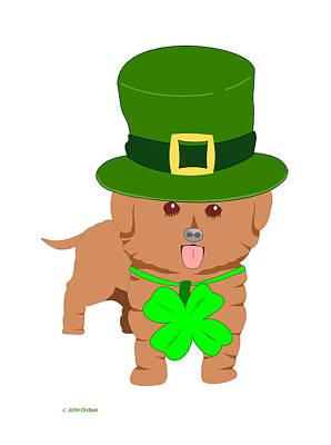 St. Patrick's Dog Poster