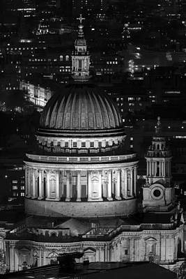 London St Pauls At Night Poster