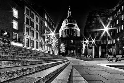 St Pauls Cathedral At Night Poster