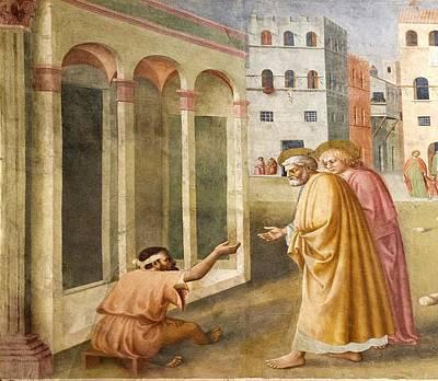 St. Peter Healing The Cripple. Poster