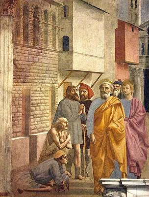 St. Peter Healing With His Shadow Poster by Sheila Terry