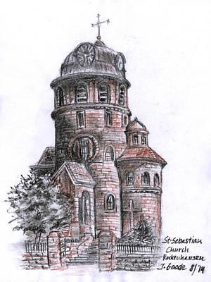 St. Sebastian Church Poster by Jana Goode