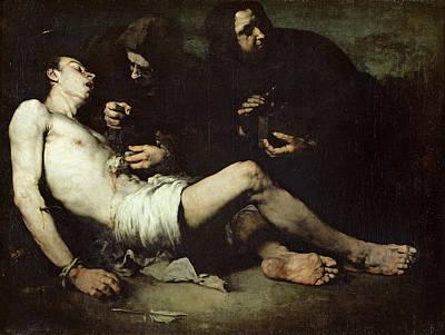 St Sebastian, Martyred Oil On Canvas Poster