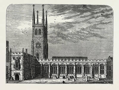 St. Sepulchres Church In 1737 Poster by Litz Collection