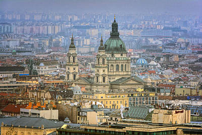St Stephen's Basilica From Gellert Hill Poster