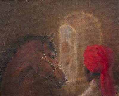 Stables, Jodhpur, 2014 Oil On Canvas Poster by Lincoln Seligman