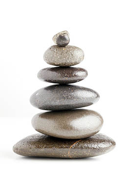 Stack Of Pebbles Poster