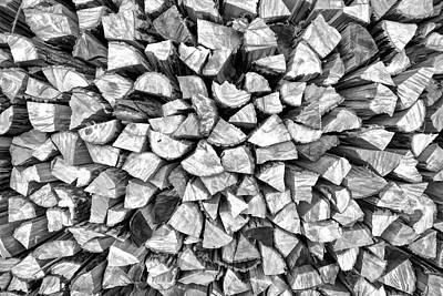 Stacked Firewood Poster by David Letts