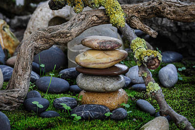 Stacked Stones A1 Poster by Marco Oliveira
