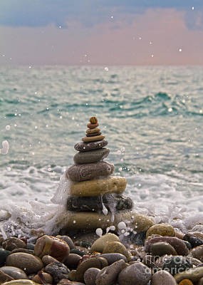 Stacking Stones Poster by Stelios Kleanthous