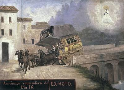 Stagecoach Accident Near Montserrat Poster by Everett