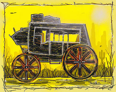 Poster featuring the mixed media Stagecoach by Jason Girard
