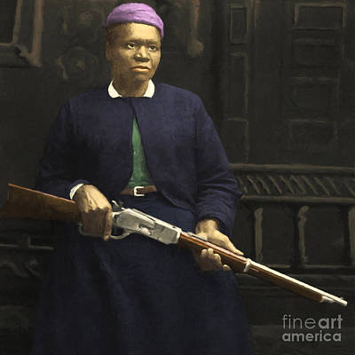 Stagecoach Mary Fields 20130518 Square Poster by Wingsdomain Art and Photography