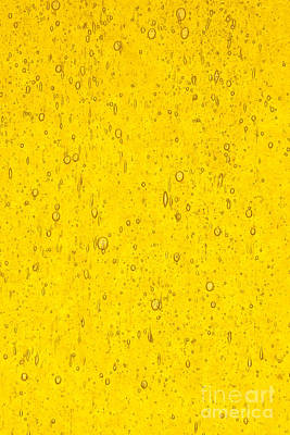 Stained Glass Abstract Yellow Poster