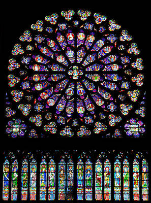 Stained Glass At Notre Dame Poster